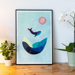 Peinture acrylique sur papier - Bretagne